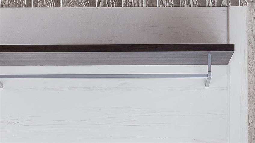 Garderobenpaneel DAKOTA in Pinie weiß Struktur Touchwood braun