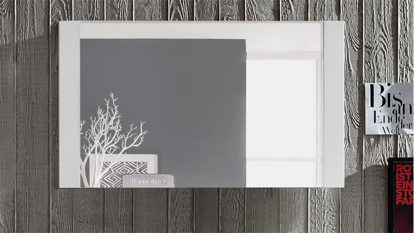 Wandspiegel DAKOTA Spiegel in Pinie weiß Struktur