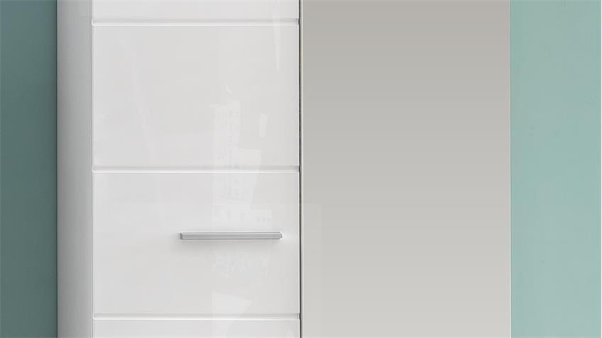 Garderobenschrank AMANDA Dielenschrank in weiß Hochglanz
