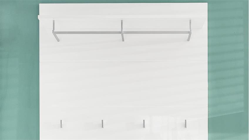 Garderobenpaneel 1 AMANDA Wandpaneel in weiß Hochglanz
