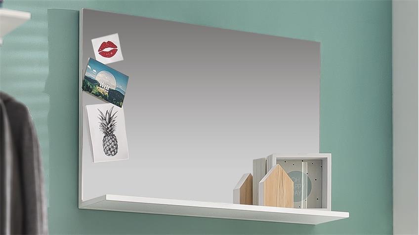 Wandspiegel AMANDA Spiegel in weiß Hochglanz