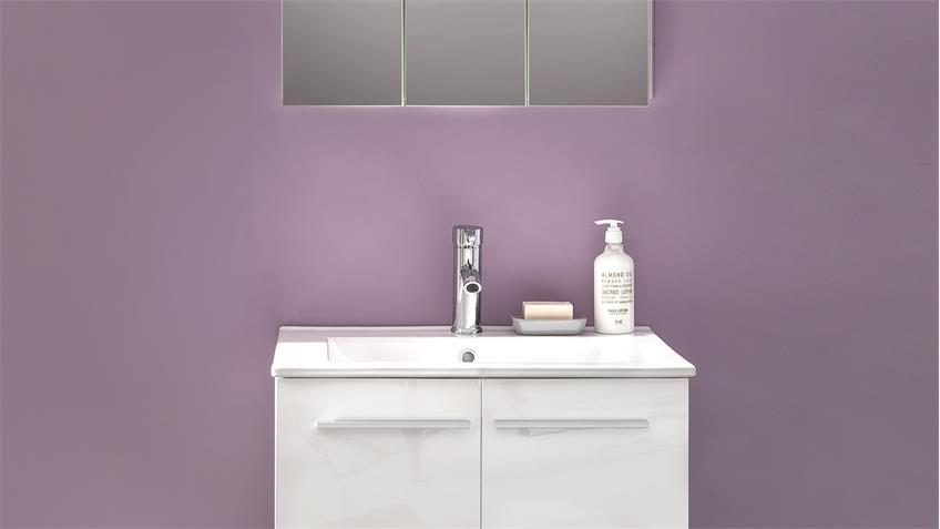badezimmer set ttb 03 wei glanz mit porzellan waschbecken. Black Bedroom Furniture Sets. Home Design Ideas