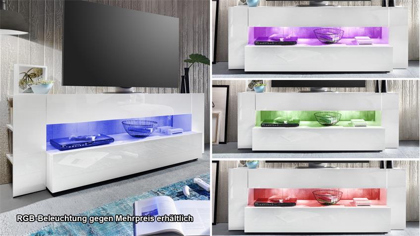 TV-Lowboard ONYX TV-Board in weiß Hochglanz