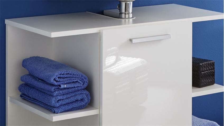 Waschbeckenunterschrank KENY in weiß Hochglanz