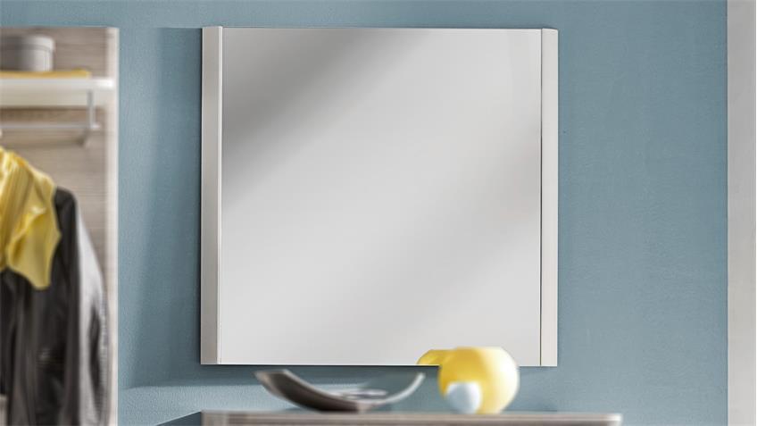 Wandspiegel DUBLIN Spiegel in weiß Struktur Woodlook