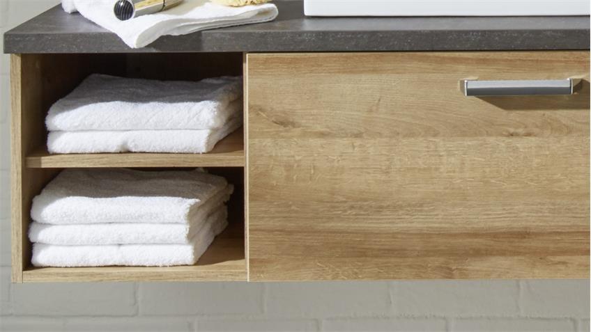waschbeckenunterschrank 1 bahia eiche riviera beton dunkel. Black Bedroom Furniture Sets. Home Design Ideas