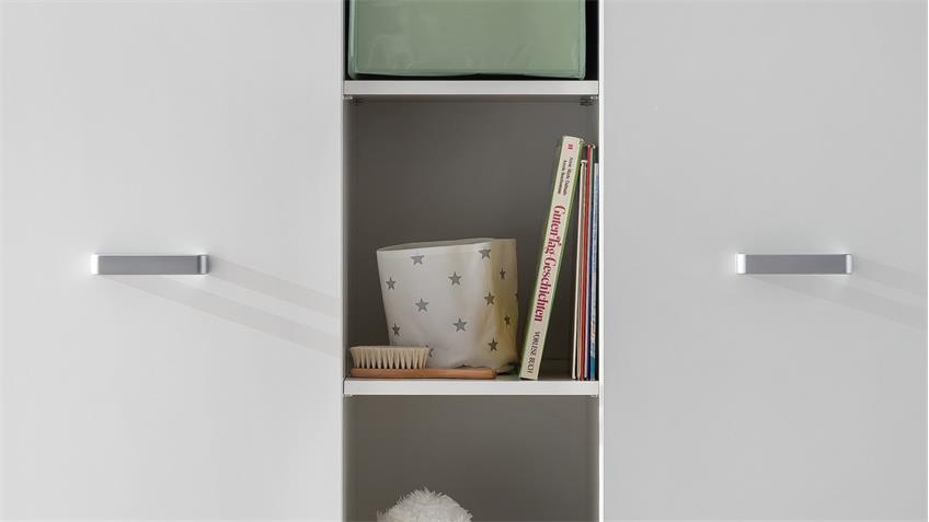 Kleiderschrank RONA Drehtürenschrank in weiß Babyzimmer