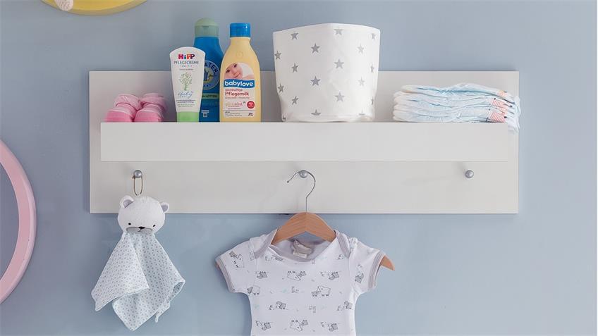 Wandboard RONA Wandregal in weiß Babyzimmer