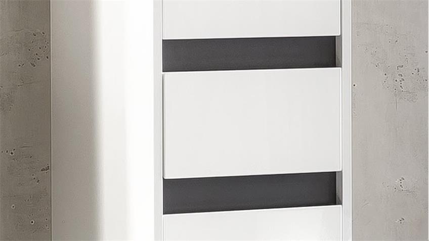 bad hochschrank sol badschrank in wei melamin hochglanz h ngend. Black Bedroom Furniture Sets. Home Design Ideas
