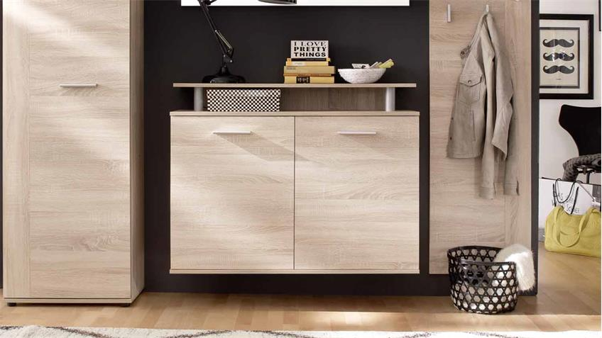 schuhschrank jack schuhkommode eiche s gerau hell. Black Bedroom Furniture Sets. Home Design Ideas