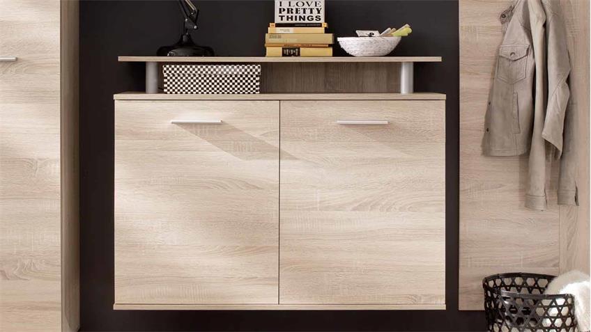 schuhschrank jack schuhkommode eiche s gerau hell. Black Bedroom Furniture Sets. Home Design Ideas