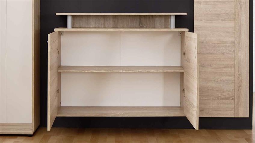 schuhkommode jack schuhschrank eiche s gerau hell h ngend. Black Bedroom Furniture Sets. Home Design Ideas