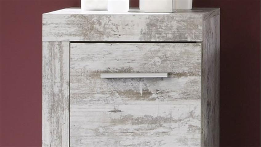 Bad Kommode CANCUN Badschrank in Canyon White Pinie