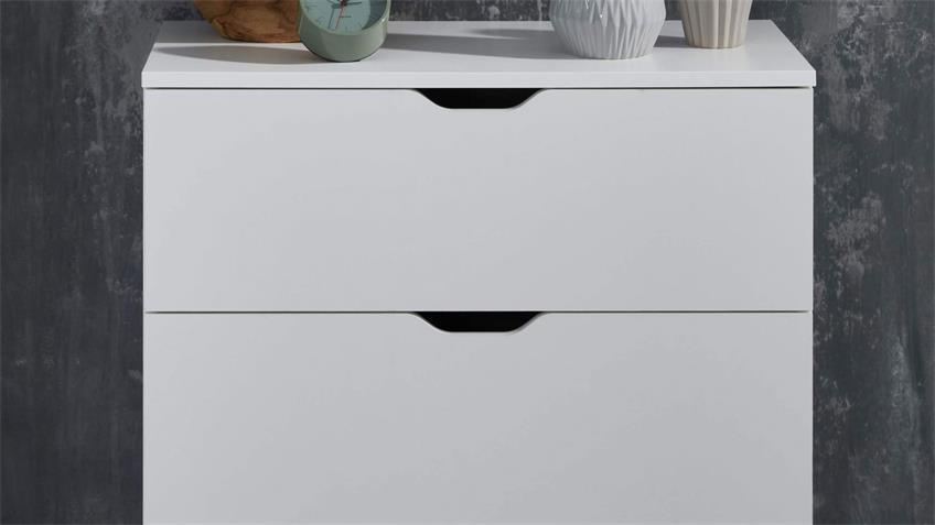 Kommode 032 BOSIKS Anrichte Sideboard Flurmöbel in weiß