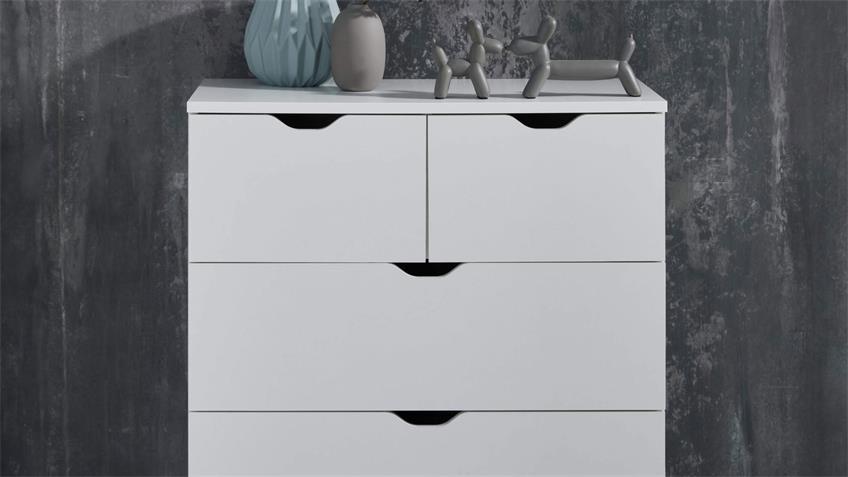 Kommode 033 BOSIKS Anrichte Sideboard Flurmöbel in weiß