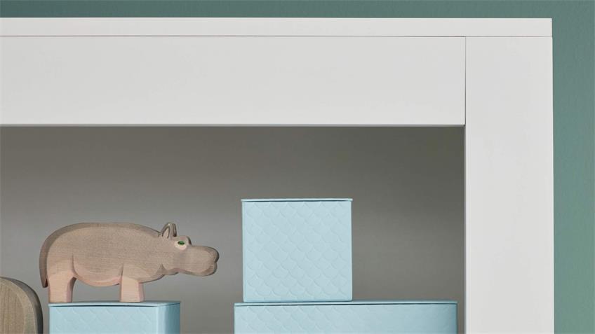 Wickelkommode PASI Kommode Babyzimmer weiß grau 96x103