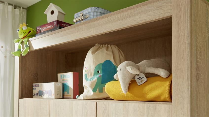 Kleiderschrank OLIVIA Babyzimmer in Eiche Sägerau 130x54