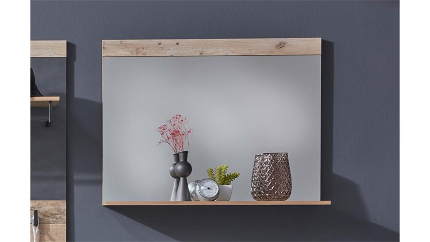 Wandspiegel TAILOR Spiegel Flurspiegel in Pale wood 90x69