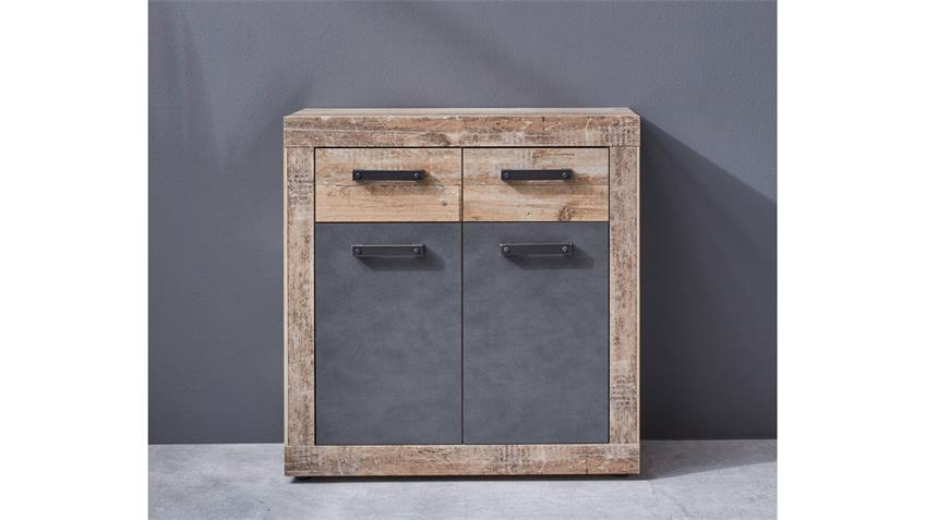 Kommode 1 TAILOR Schrank in Matera dunkelgrau Pale wood