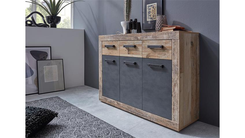 Kommode 2 TAILOR Schrank in Matera dunkelgrau Pale wood