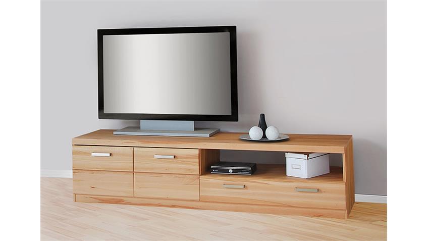TV Board 1 CHARLOTTE Kernbuche teilmassiv