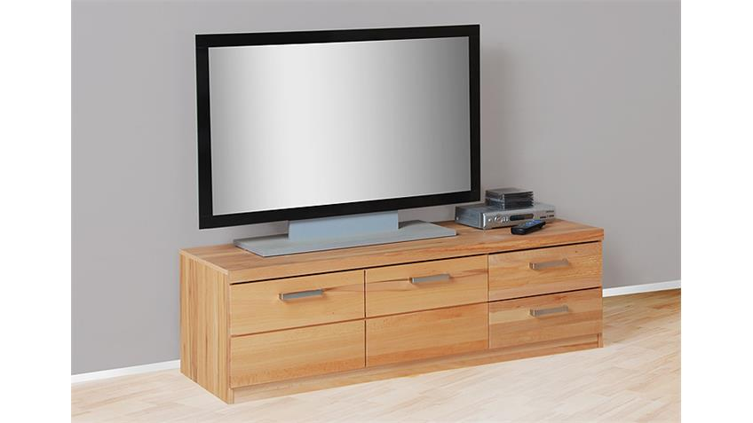 TV Board 2 CHARLOTTE Kernbuche teilmassiv