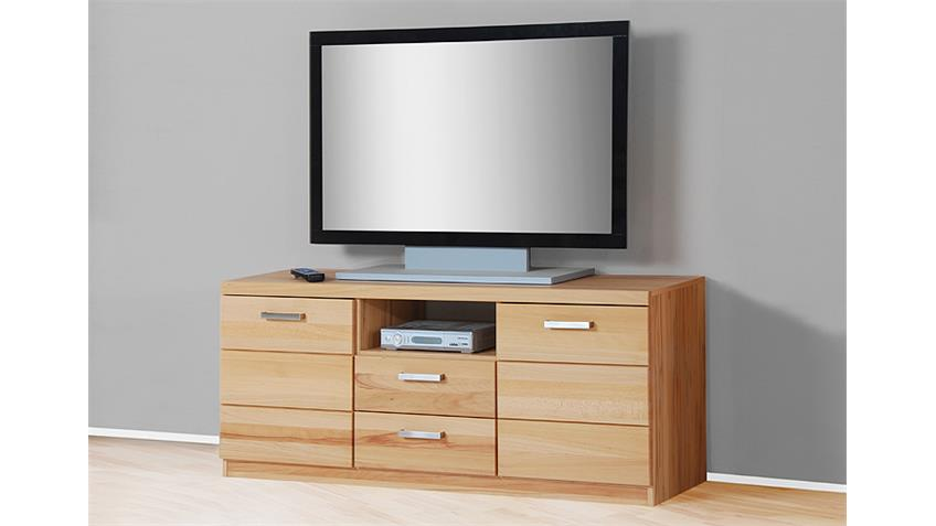 TV Board 3 CHARLOTTE Kernbuche teilmassiv
