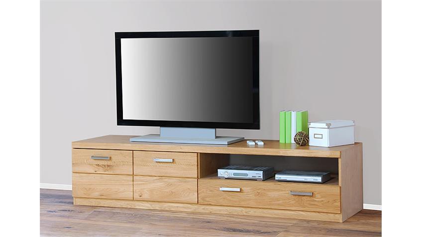 TV Board 1 CHARLOTTE Wildeiche teilmassiv