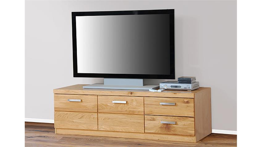 TV Board 2 CHARLOTTE Wildeiche teilmassiv