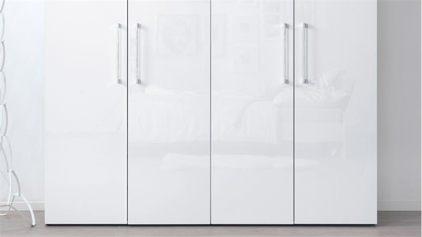 Kleiderschrank KLEIDERSCHRANKWUNDER in weiß Hochglanz Wellemöbel 200