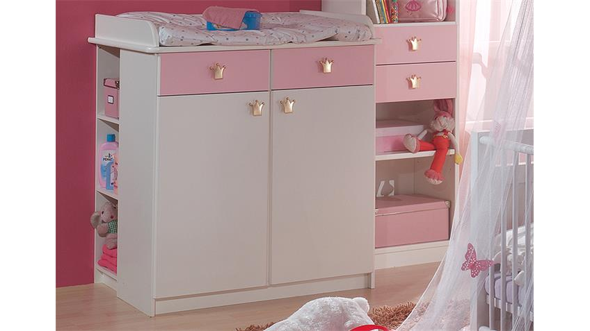 unterschrank wickelkommode cinderella wei und ros. Black Bedroom Furniture Sets. Home Design Ideas