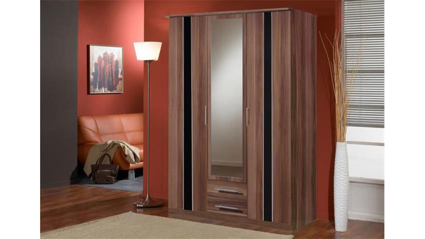 hit kleiderschrank 180 cm wei schwarz hochglanz. Black Bedroom Furniture Sets. Home Design Ideas