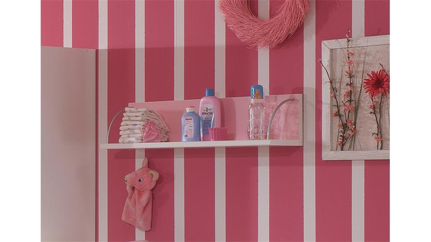 Hängeregal CINDERELLA Wandboard Regal in weiß und rosé