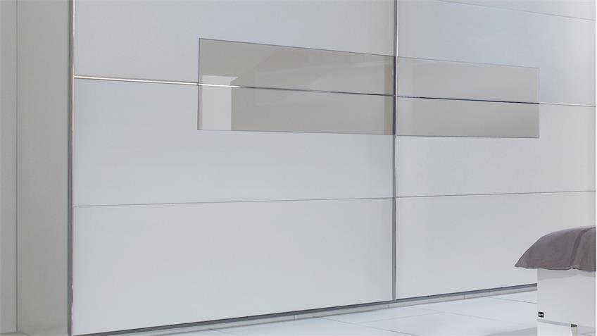 Schwebetürenschrank ADVANTAGE Kleiderschrank in weiß und gelb grau 250
