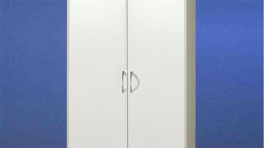 Kleiderschrank SPRINT in Weiß 2-türig mit 90 cm Breite