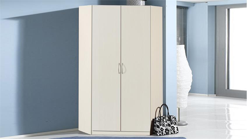 Eckschrank SPRINT Kleiderschrank in Weiß 2-türig 120x120 cm