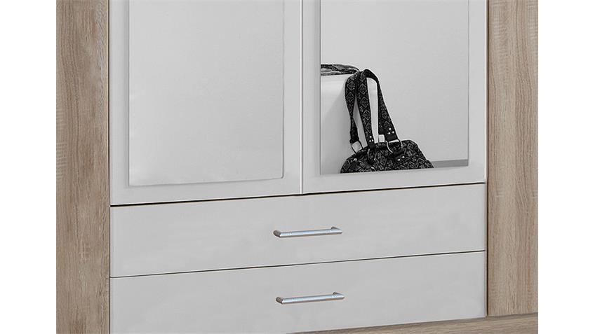 Kleiderschrank POLO Sonoma Eiche sägerau und Weiß B 180 cm