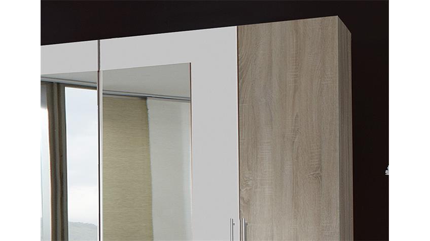 Kleiderschrank FRANZISKA Sonoma Eiche sägerau/ Weiß 225 cm