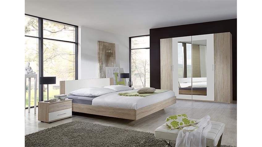 Schlafzimmer Set FRANZISKA Sonoma Eiche sägerau und weiß