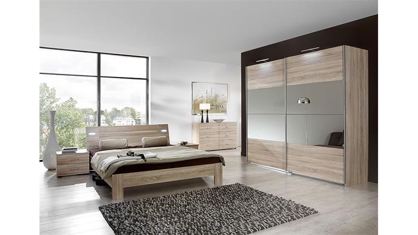 Schlafzimmer-Set VIZA Sonoma Eiche sägerau inkl Beleuchtung