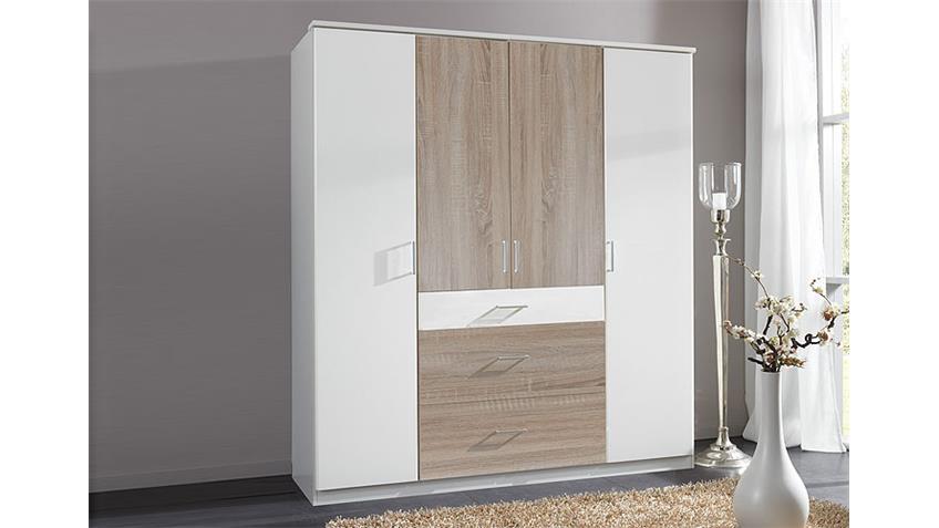 kleiderschrank click wei sonoma eiche s gerau 180 cm. Black Bedroom Furniture Sets. Home Design Ideas