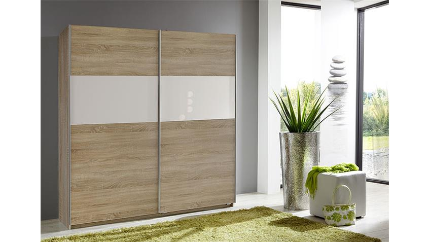schwebet renschrank zelda 179 cm sonoma eiche glas wei. Black Bedroom Furniture Sets. Home Design Ideas