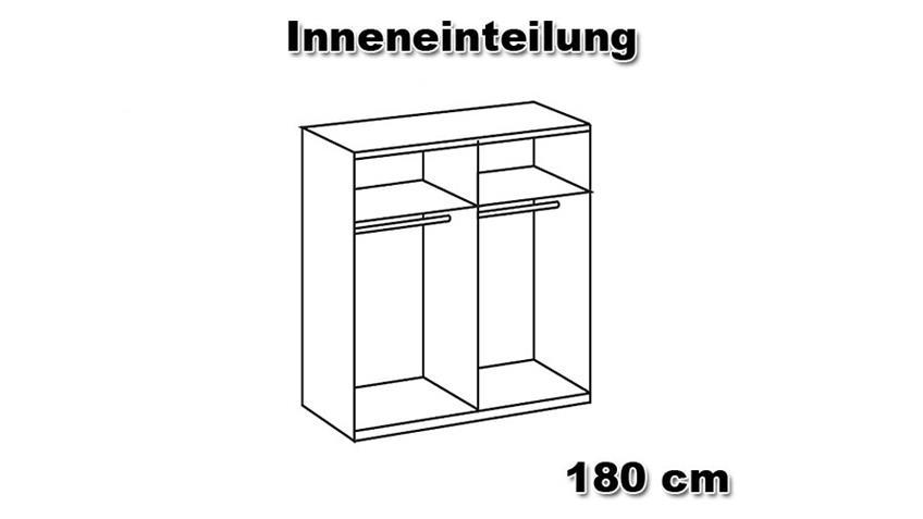 LESCA Schwebetürenschrank 180 Lava/ Spiegel