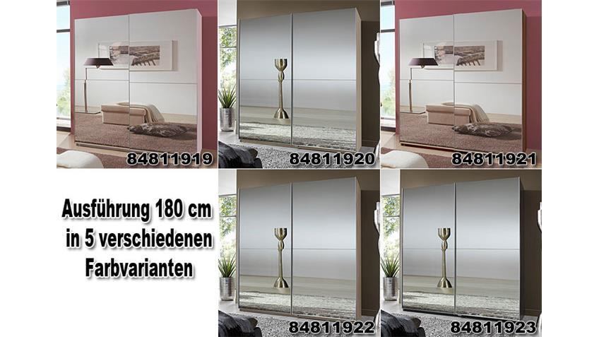 LESCA Schwebetürenschrank 180 Weiß/ Spiegel