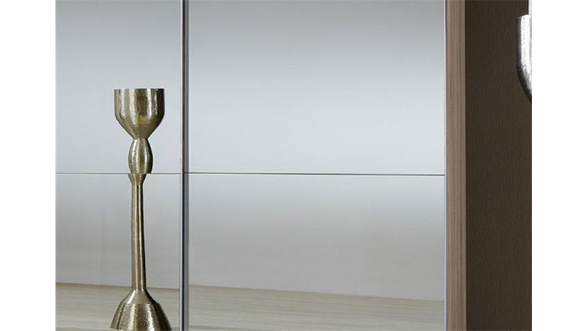 Schwebetürenschrank LESCA Sonoma Eiche mit Spiegel 135