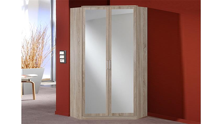 Eckschrank CLICK Sonoma Eiche sägerau Spiegel 120 cm