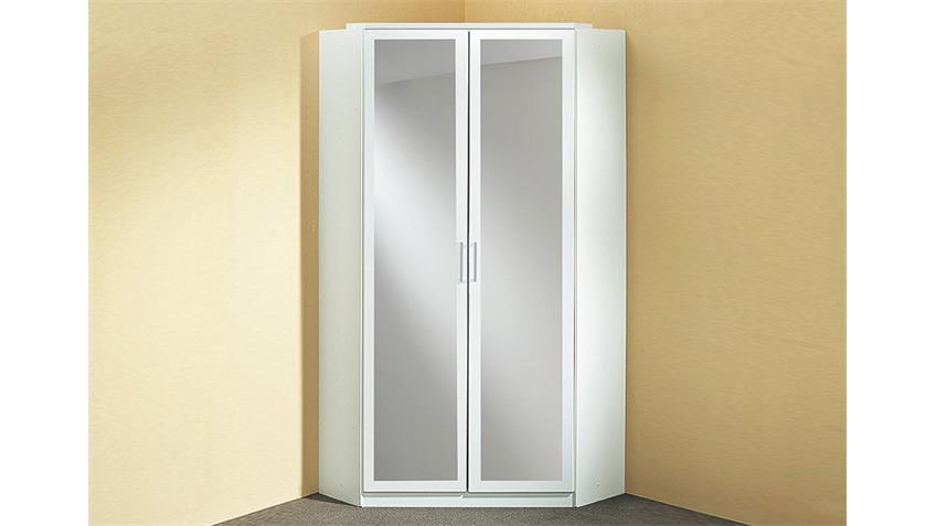 Eckschrank CLICK Weiß mit Spiegel 120 cm