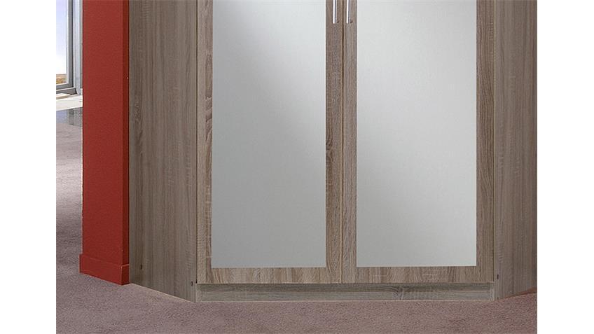 Eckschrank CLICK Montana Eiche sägerau Spiegel 120 cm