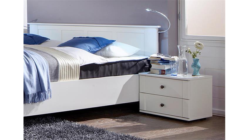 Schlafzimmer Kombi 1 Chalet in Alpinweiß mit Spiegeln
