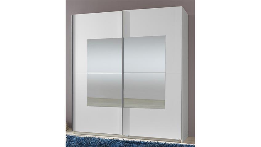 Schwebetürenschrank SPIRIT Alpinweiß Spiegel B 180 cm